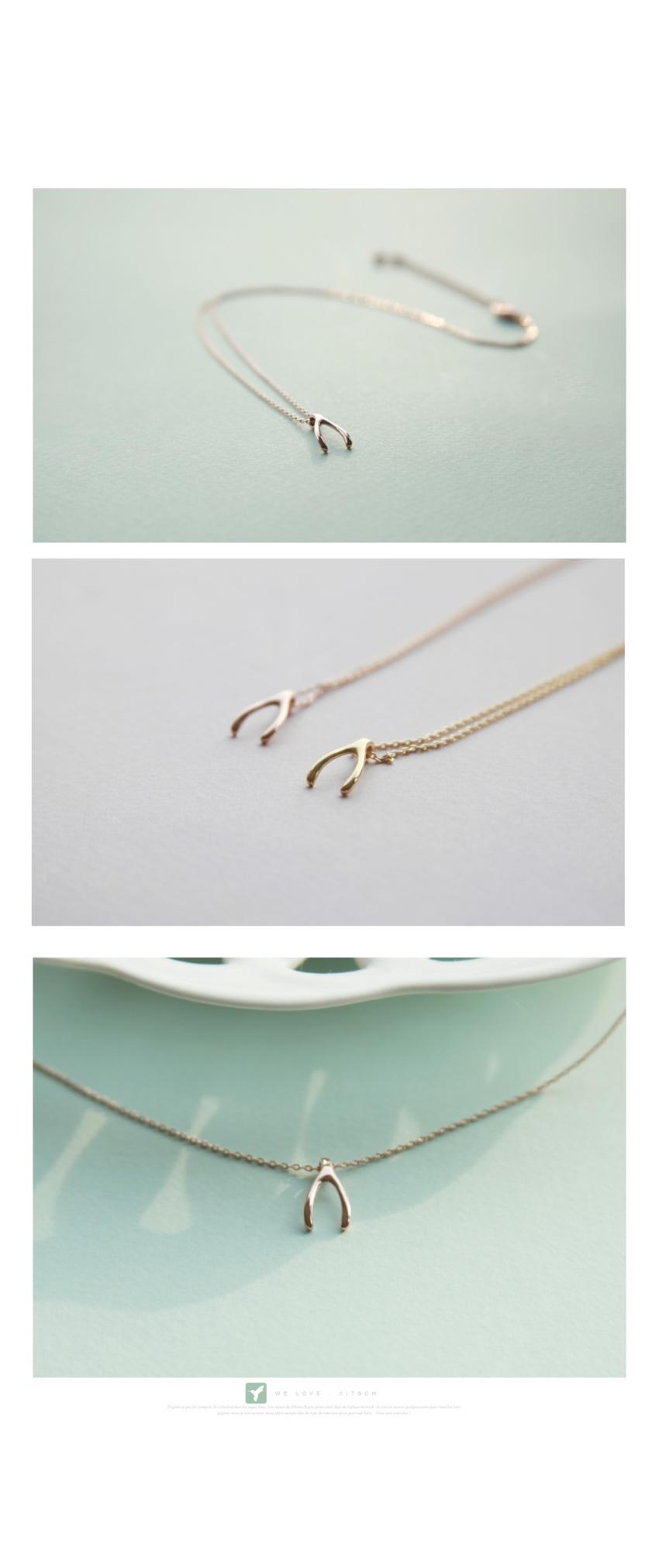 위시본 실버(Silver) 목걸이상속자들 소원목걸이 - 키치아일랜드, 13,500원, 실버, 펜던트목걸이