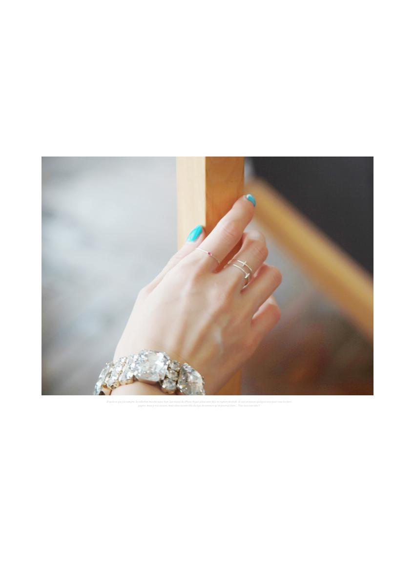 더블 크로스 볼드 반지 전체 프레임 은(Silver) 92.5 - 키치아일랜드, 7,500원, 실버, 실반지