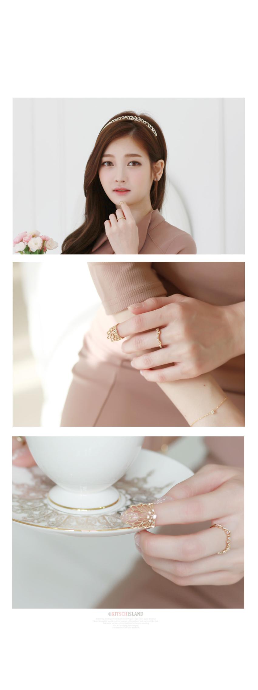 트리샤 네일 반지 - 키치아일랜드, 8,500원, 패션, 패션반지