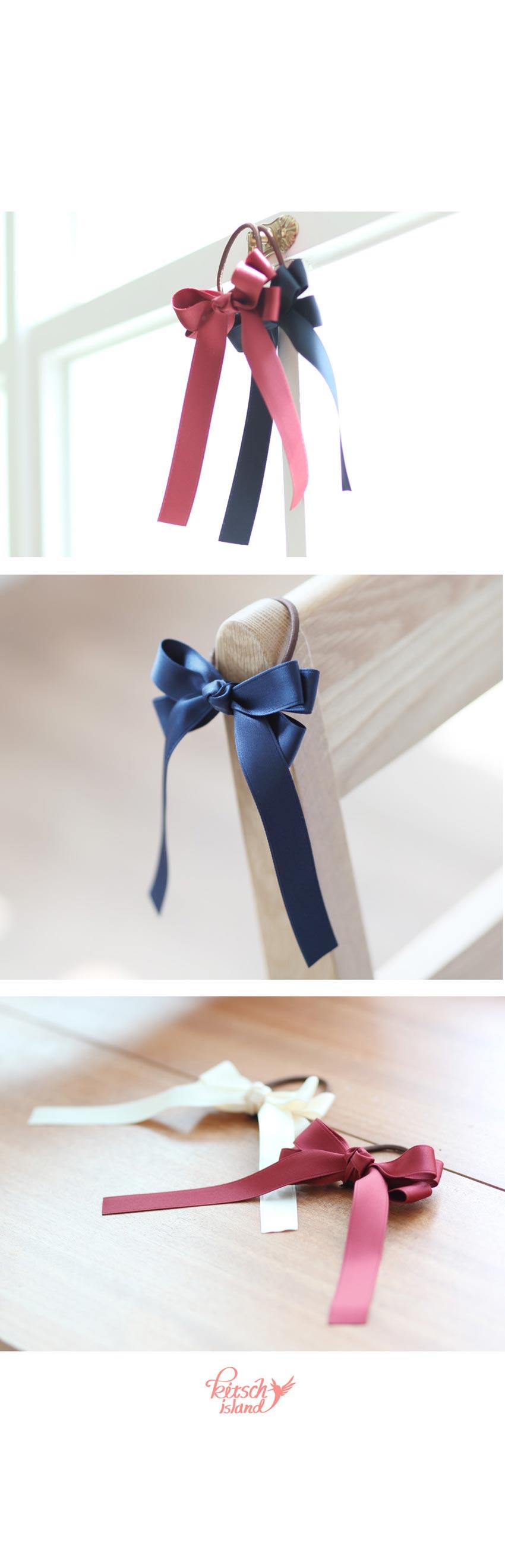 슬림 리본 테일 머리끈 - 키치아일랜드, 3,500원, 헤어핀/밴드/끈, 헤어핀/끈